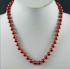 """Fashion Natural 8mm RER Akoya Cultured Shell Pearl Necklace 18"""" AAA"""