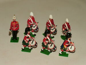 MIXED OTHER LEAD / METAL TOY SOLDIERS BUNDLE MILITARY SCOTTISH DRUMMERS X7