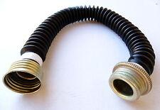 Gasmaskenschlauch, 40mm-Gewinde, Länge 50-55cm, schwarz. Aufbereitet!