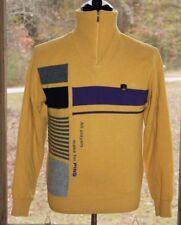 Ping Medium Vintage Yellow Wool Long Sleeve Lined Golf Sweater 1/4 Zip 1995 AB