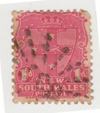 (DZ-89) 1897 NSW 1d red shield Post office cancel 337 (BU)