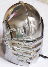 German Maximilian Italian Armour Helmet, Medieval European Closed Helmet