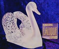 "Exquisite RARE Lalique Crystal France ""Swimming Swan"" with Head Up - MINT!"