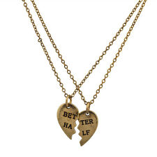 Lux You Are My Better Half BFF Best Friends Forever Matching Necklace Set