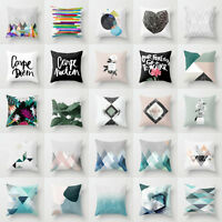 Geometric Polyester throw pillow case for sofa Chair cushion cover Home Decor
