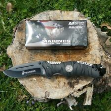 "8.5"" USMC USA MARINES Tactical Rescue Folding Pocket Knife Army Bowie New"