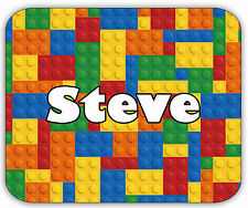 Personalised Name Office Desk Work Lego Mouse Mat! FREE POSTAGE!!