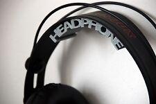 Headphones Headset Grey Wall Mount Holder / Stand (Gaming - DJ)