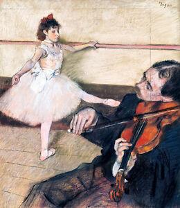 The Dance Lesson by Edgar Degas 60cm x 52cm High Quality Canvas Print