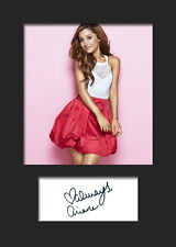 ARIANA GRANDE #1 A5 Signed Mounted Photo Print - FREE DELIVERY
