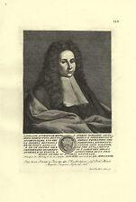 TARAGIONI CIPRIANO MEDICO MEDICINA BOTANICA STAMPA ORIGINALE 1700