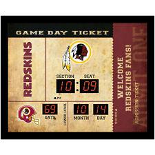 Washington Redskins scoreboard LED clock bluetooth speaker date time 20x2x16