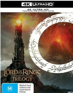 4K LORD OF RINGS TRILOGY EXTENDED ULTRA HI DEF RB BLU RAY FREE POST RRP$100 NEW