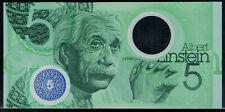 "Polymer Test Note De La Rue portrait Einstein, with ""5"" and blue feature"