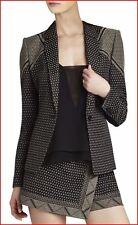 BCBG MAXAZRIA KAMRYN BLACK COM. CLASSIC SLIM FIT JACKET XXS NWT $368-RackF/53
