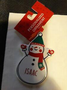 "⭐ Personalized Ganz Ceramic Ornaments ""Isaac"" Snowman A12"