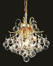 World Crystal contour 3 light 12x15 Crystal chandelier Ceiling Light Gold