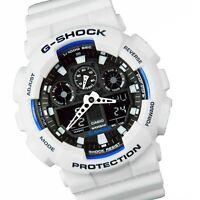 Mens Quartz G-Shock White Water Resistant Casio GA100B/7A Watch GA-100B-7AER New