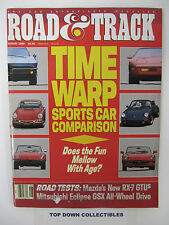 Road and Track Magazine   August 1989   Salon: Alfa Romeo B.A.T. 9d A Love Story