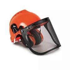 TR Industrial TR88011 Hard Hat Forestry Safety Helmet & Ear Muffs  plastic visor
