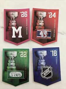 2011-12 Panini Molson Coors Stanley Cup Champions BANNERS LOT OF 42 NO DOUBLES