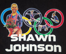 Shawn Johnson Large T Shirt Gymnast Olympics Gymnastics Olympian Rare ! Black