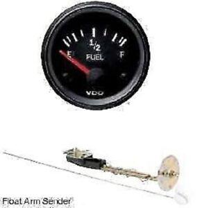 """VDO Cockpit Vision Fuel Gauge & Sender, 12volt, 52mm 2"""" 10-180 ohm 301010011"""