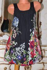 (11) AX Paris 100% Cotton ladies floral print A line Loose fit dress size 10