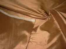 """~BTY~FABRICUT 100% SILK """"DOUPPIONI"""" COPPER~DRAPERY UPHOLSTERY FABRIC FOR LESS~"""