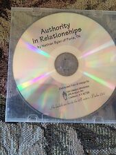 AUTHORITY IN RELATIONSHIPS BY Nathan Blyer of Paris TN CD SERMON - LIVE  GREAT!