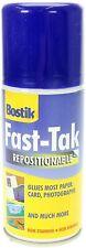 Bostik Blu-Tack Fast Tak Adhesive Spray Can Repositionable 150ml 80219