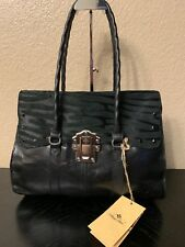 Patricia Nash Zebra Vienna Medium Top-Flap SatchelPurse Handbag Black Retail 269
