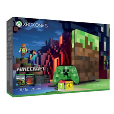 Microsoft Xbox One S 1TB Minecraft Limited Edition Console Bundle (Brand New)