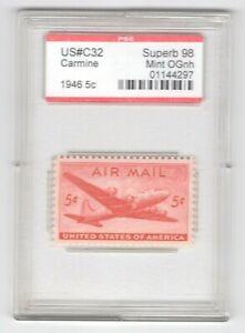#C32  PSE Superb 98 MNH OG Encapsulated SMQ. $75 (JH 5/12/21) GP