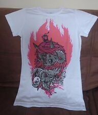 Paint The Stars Flame On  Girl's T-Shirt White Small