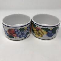Dansk Small Fruit Bowls Sauce Bowls Microwave Safe Set Of 2 4' x 2.5'