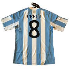 2010 Argentina Home Jersey #8 VERON Medium World Cup Soccer ALBICELESTE NEW