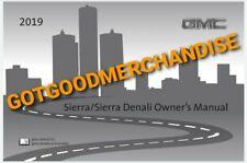 2019 Gmc Sierra Owners Manual Slt Sle Elevation Denali At4 Base 4Wd Rwd Truck