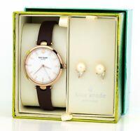 Kate Spade New York Women's Holland Purple Leather Watch Box Set KSW1496B, New