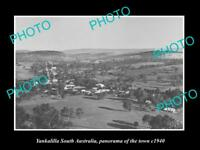 OLD LARGE HISTORIC PHOTO OF YANKALILLA SA, PANORAMA VIEW OF THE TOWN c1940