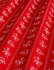 Trachtenstoff, Baumwollsatin, rot-weiß, 150 cm br. Meterw, ab 0,5 m (€ 14,00/qm)