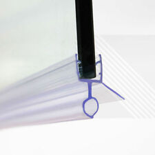 Shower Screen Water Seal Strip Bar 4-6mm Curved Flat Glass Bath Door 16mm Gap WV