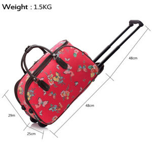 Travel Bag With Wheels Men/Women Trolley Holdall Weekend Butterfly Cabin Approve