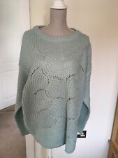Dorothy Perkins Curve Size 22 Mint Green Lofty Stitch Jumper