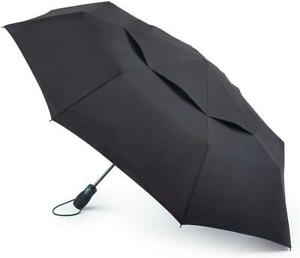Fulton Performance Umbrella Tornado 1 Black Wind-Resistant Vented Folding