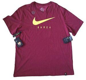 FC Barcelona Nike Mens Training T Shirt Size XL Scarlet Dri-Fit Barca New Tags.