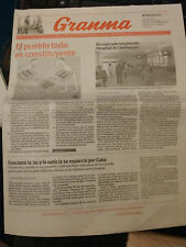 Cuba newspaper Granma August 15 2018 official Cuban communist publication