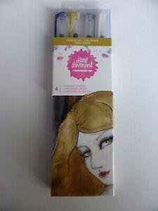 *NEW* Jane Davenport 4x Watercolour METALLIC Mermaid Markers *CELESTIAL SKY*