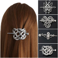 1 PCS Large Celtics Knots Crown Hairpins Hair Clips Stick Slide Accessories