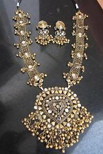 Statement Long Boho Necklace Earring Vintage Bollywood Party Fashion Jewelry Set
